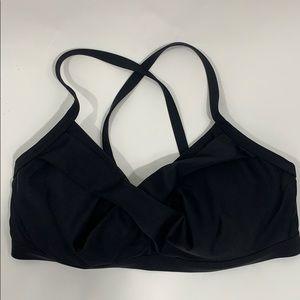 Athleta black size 36D/DD cross over Bra swimsuit